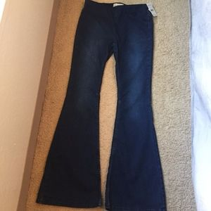 Free People Penny Pull-on Flare Denim blue size 30